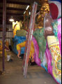 Interior shot of master floatbuilder Steve Mussell's float barn