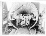 Military Men in Submarine Hatch