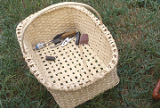 White oak basket made by Eddie Campbell of Maplesville, Alabama.