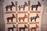 "Donkey Quilt"" quilt by Nora Ezell at the Alabama Artists Gallery at 1 Dexter Avenue in..."