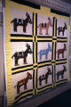 "Mules"" quilt by Nora Ezell at the Alabama Artists Gallery at 1 Dexter Avenue in Montgomery,..."