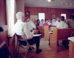 James Robert Chambless at the Lacy Memorial Sacred Harp singing in Ider, Alabama.