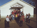 Members of the Ivey family in front of Liberty Baptist Church in Henagar, Alabama.