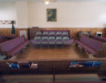 Hollow square at the Ivey family Sacred Harp singing and recording at Liberty Baptist Church in...