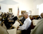 Danny Arms at the 12th session of the annual Sacred Harp singing at Salem United Methodist Church...