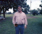 Rodney Ivey at a social hosted by Coy and Marie Ivey on their property in Henagar, Alabama.
