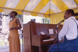 Bettie Fikes and Carlton Reese performing at the 1990 Alabama Folklife Festival in Birmingham,...