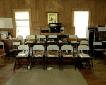 Alto section at the Lacy Memorial Sacred Harp singing in Ider, Alabama.