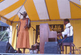 Bettie Fikes and Carlton Reese at the 1990 Alabama Folklife Festival in Birmingham, Alabama.