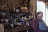 Arlin Moon in his instrument workshop in Holly Pond, Alabama.