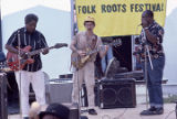 Johnny Shines, Davey Williams, and Bo McGhee performing at the Black Belt Folk Roots Festival in...