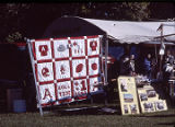 Quilts on display at the twenty-second annual Tennessee Valley Old Time Fiddlers Convention in...