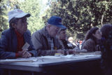 Judges at the twenty-second annual Tennessee Valley Old Time Fiddlers Convention.