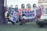 Members of the Clinton Quilting Bee hanging at the Black Belt Folk Roots Festival in Eutaw,...