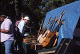 String instruments on display at the twenty-second annual Tennessee Valley Old Time Fiddlers...