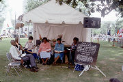 Wiregrass Sacred Harp Singers at the 1989 Alabama Folklife Festival in Birmingham, Alabama.