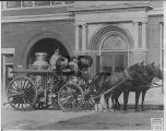 Horse Drawn Pumper and City Hall