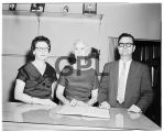 Mrs. Phil Turner, Mrs. Lee Sledge, Dr. Mort Glosser, 1960