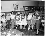 Helen Callan with book clubs, 1961