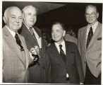 "Congressman Albert Rains, Dr. Stone, Carl Albert, and E.E. ""Red"" Cox"