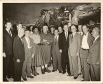 "Cong. Albert Rains and E.E. ""Red"" Cox with Spencer Tracy and Pearl Bailey"