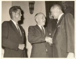 Cong. Albert Rains with Pres. John F. Kennedy and Vice President Lyndon Johnson