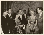 "E.E. ""Red"" Cox with Zsa Zsa Gabor"