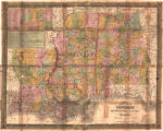 """Map of the Southern States of Louisiana, Mississippi & Alabama."""