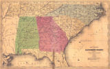 """Map of Part of the Southern States."""