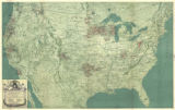 """Map of the United States Showing Territories served by Operated and Affiliated Public..."