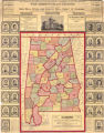 """Map of Alabama Showing Newest Surveys, Counties, Distances, Townships, Railroads, Etc."""