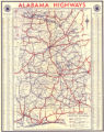 1938 official highway map of Alabama.