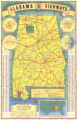 1939 official highway map of Alabama.