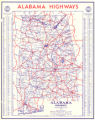 1941 official highway map of Alabama.