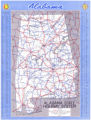 1952 official highway map of Alabama.