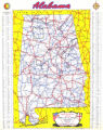 1953 official highway map of Alabama.