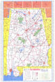 1972 official highway map of Alabama.