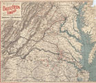"""Map Showing the Location of Battlefields of Virginia."""