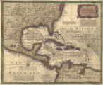 """A New and Accurate Chart of the West Indies with the Adjacent Coasts of North and South..."