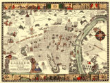 """A Pictorial Map of Gadsden, Alabama with Scenes of Today and Yesterday."""