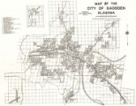 """Map of the City of Gadsden, Alabama."""