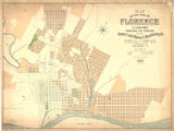 """Map of the town of Florence showing the property of the Florence Land, Mining and..."