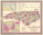 """A New Map of North Carolina with its Canals, Roads, and Distances from Place to Place, Along..."