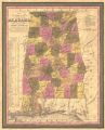 """A New Map of Alabama, with Its Roads and Distances from Place to Place, along Stage and..."