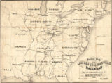"""Outline Map of the Lexington and Danville Railroad: The Central Railroad of Kentucky."""