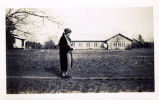 Marietta Johnson walks the campus of the Marietta Johnson School of Organic Education.