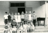 Grade school students of Marietta Johnson School of Organic Education in class photo in 1970.