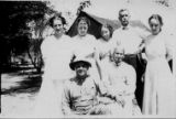 Photograph of John Dowe Sr. and his family, John Dowe Collection