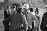 Police officer speaking with a man during a civil rights demonstration in Luverne, Alabama.