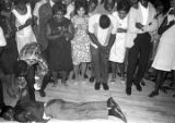 Man dancing at the Laicos Club in Montgomery, Alabama, during a performance by Bobby Moore and the...